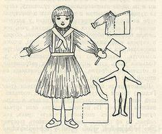"""Выкройка для игрушки-самоделки """"Пионерка"""" (Е. Быковская, журнал """"Советская игрушка"""", №12, 1936 г.) http://samoe-vazhnoe.blogspot.ru/"""