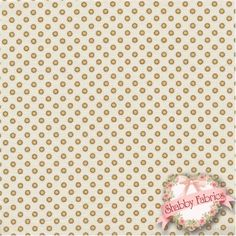 Lakehouse Penelope 11049 Yellow by Holly Holderman for Lakehouse Dry Goods: Lakehouse Penelope 4, 5, 6 by Holly Holderman for Lakehouse Dry Goods. This fabric features small yellow dots on a cream background.