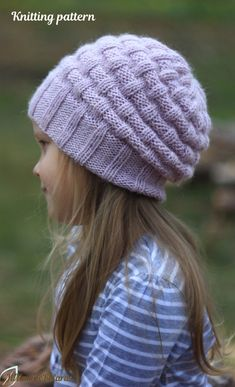 KNITTING PATTERN No knitting hat pattern (Toddler, Child and Adult sizes) easy slouchy hat pattern for girls and womens Knitting Paterns, Easy Knitting, Crochet Blanket Patterns, Knitting Yarn, Yarn Projects, Knitting Projects, Crochet Projects, Knitting Ideas, Knit Crochet
