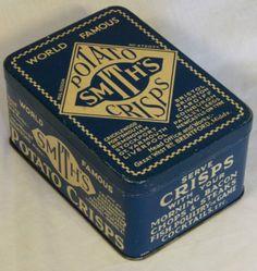 RARE ANTIQUE ART DECO TIN SMITHS CRISPS C1920-30s | eBay