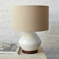 Mia Table Lamp - White #West Elm