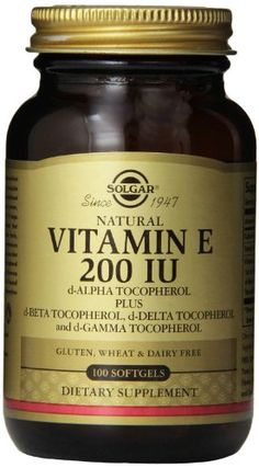 Solgar Vitamin E 200 IU Mixed Softgels DAlpha Tocopherol and Mixed Tocopherols 100 Count ** Visit the image link more details. (Note:Amazon affiliate link)