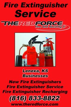 Fire Extinguisher Service Lenexa, KS (816) 833-8822 Check out The Red Force Fire and Security.. The Complete Source for Fire Protection in Kansas. Call us Today!