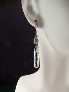 Sterling Silver And Rhinestone Swarovski by KrisTsCreations, $18.00