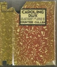 Caroling Dusk: An Anthology of Verse by Negro Poets, by Countee Cullen..  Selections from the work of 38 poets, assembled by Countee Cullen in 1927. His stated purpose at the time was to bring together a miscellany of deeper appreciated but scattered verse. The book is illustrated throughout by Aaron Doug. Foreword by Countee Cullen. First edition.  Listed by The Book Collector.  #poet #harlemrenaissance
