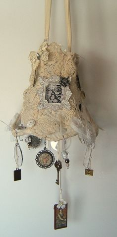 Shabby Chic Lampshade by TheBlueButterflyArt on Etsy