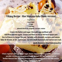 Norwegian recipes which are still enjoyed today… Basic versions (oat, barley, wheat, or almond flour and honey in place of sugar) are reminiscent of Viking Age baking, topped with native fruits and. Old Recipes, Vintage Recipes, Cooking Recipes, Recipies, Cooking Tips, Medieval Recipes, Ancient Recipes, Norwegian Food, Norwegian Recipes