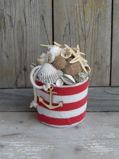 8 könnyed nyári dekoráció Sea Crafts, Seashell Crafts, Decor Crafts, Diy And Crafts, Summer Deco, Beach Design, Cardboard Crafts, Nautical Fashion, Happy Summer