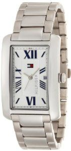 Tommy Hilfiger Men's 1710258 Classic Stainless Steel Tank Bracelet Watch Tommy Hilfiger. $74.95. Silver dial with date feature roman numerals. Water-resistant to 99 feet (30 M). Classic rectangular stainless steel bracelet watch. Stainless steel case and bracelet. Case diameter: 29 mm. Save 21%!