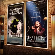 Wicked and If/Then-Idina Menzel Theatre Nerds, Music Theater, Broadway Theatre, Broadway Shows, Musicals Broadway, Idina Menzel Wicked, Neil Patrick, Wicked Musical, E 10