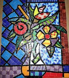 Paso 4.- Cuadro  Venecitas/Mosaiquismo inspirado en Romero Britto