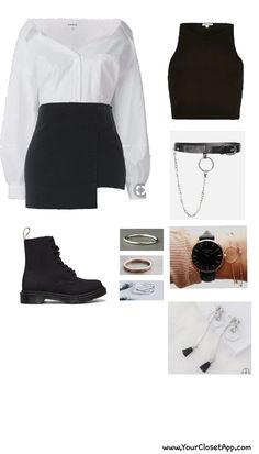 School swag The real deal from all about bad girl stereo type, chic, quiet, cold a rebel even all of this explains it -_- Kpop Fashion Outfits, Stage Outfits, Korean Outfits, Chic Outfits, Teen Fashion, Korean Fashion, Girl Outfits, Womens Fashion, Inspiration Mode