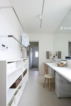 Laundry Closet, Laundry Room, Interior Architecture, Interior And Exterior, Laundry Design, Built In Furniture, Dream House Plans, Japanese House, Home And Deco