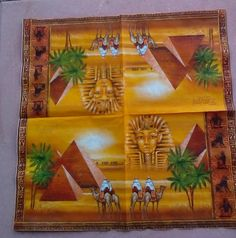 Decoupage Napkins 2  Paper Napkins EGYPT 33cm 13 Inch.