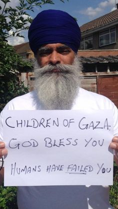 Message of comradeship from the Sikh community worldwide