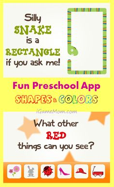 Fun Preschool App on Shapes and Colors