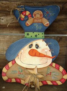 Snowman Tole Painting Patterns Free   ... , Ginger, & Candy Canes, Newly Added Painting Patterns / e-Patterns