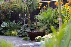 Suburban sanctuary by Sandra Batley at Flourish - Garden Deko Tropical Garden, Tropical Landscaping, Garden Design, Garden Landscape Design, Landscape Design, Tropical Garden Design, Outdoor Gardens, Native Garden, Dream Garden