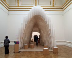 Diébédo Francis Kéré's installation at the Royal Academy's Sensing Spaces exhibition