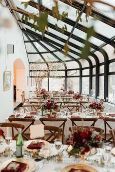 """With its gorgeous main floor patio, beautiful upper level and """"Cinderella Solarium"""". This corporate and intimate wedding venue is perfect for any event. Intimate Weddings, Backdrops, Wedding Venues, Table Settings, Romantic, Patio, Wedding Reception Venues, Wedding Places, Place Settings"""