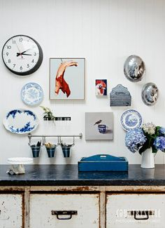 Take a look inside the stylish Mudgee home of winemaking couple Peter and Hannah Logan and their 14-month-old daughter, Clementine. Photographs Felix Forest, styling Phoebe McEvoy #countrystylemag #blue #countrykitchen