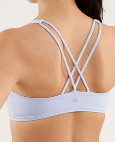 About a gazillion colors in this stylish sports bra from lulu lemon. I covet their clothing.