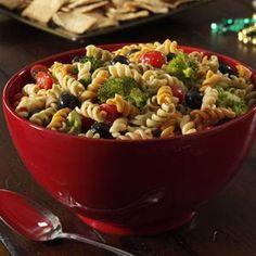 Colorful Spiral Pasta Salad Recipe