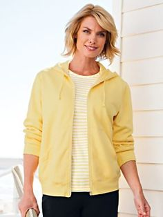 """""""I love these hoodies and the variety of colors. """" ~ Rhonda about the Hooded Fleece Jacket in 8 colors at