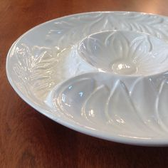 Whittier Pottery White Artichoke Bowl / Dish / Server - California by BucketListGarnishes on Etsy