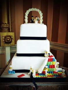Lego Wedding Cake, bright and fun! Arundel, West Sussex