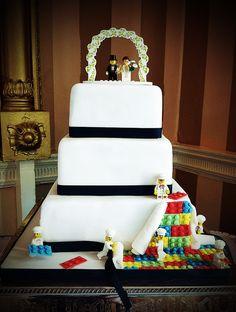 Lego Wedding Cake, bright and fun! Arundel, West Sussex