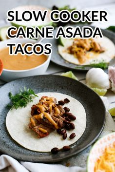 Slow Cooker Carne Asada Steak Taco with Chipotle Aioli Sauce Recipe | Six Sisters' Stuff Some of the best Mexican steak tacos bursting with flavor can end your day right. With our amazing slow cooker carne asada steak tacos, you will get all the flavor you dreamed of and more in this easy recipe!