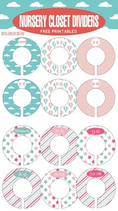 Nursery Closet Organization Ideas + Free Nursery Closet Dividers Printable Sheets - 2 Designs available perfect for your new baby girl's room!
