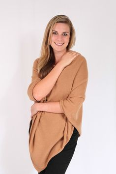 Camel 100% Cashmere Poncho for sale online in South Africa – Pebble&Jack