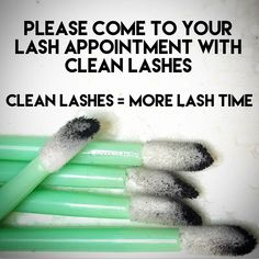 Maximize your lashing time by arriving with clean lashes! Dirty lashes can sometimes require 15 minutes of cleansing before a refill can be properly performed. If you have makeup on and arrive early, please ask for a makeup removal kit to expedite the prepping process of your refill. Clean Lashes = More Lash Time #mississaugalashes #eyelashextension