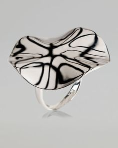 Hammered Silver Flower Ring by Ippolita at Neiman Marcus.