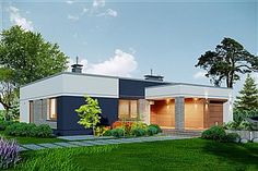 Projekt Domidea 2 d ps 119,87 m2 - koszt budowy - EXTRADOM Bungalow, Ps, Shed, Outdoor Structures, Outdoor Decor, Home Decor, Homemade Home Decor, Backyard Sheds, Bungalows