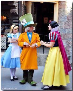 Snow White & Alice & Mad Hatter