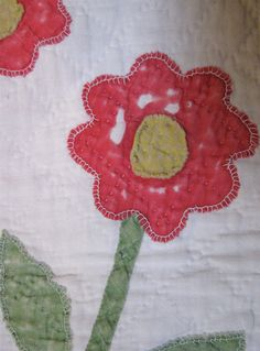 Vintage Quilt c.1875 Red and Green Antique by PureAndSimplyMe