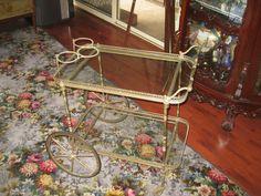 Original ART Deco Brass AND Glass Serving Drinks Trolley | eBay
