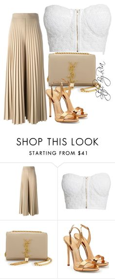 """""""wide pants"""" by stylebyria ❤ liked on Polyvore featuring Givenchy, NLY Trend, Yves Saint Laurent and Giuseppe Zanotti"""