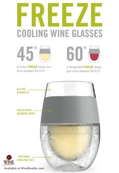 More Freeze Cooling #Wine Glasses in stock!   10% off when you purchase more than 1 set!