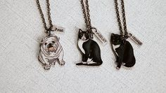 Custom Pet Necklace, Hand Drawn Pet Portrait, Wearable Art, Pet Charm, Shrink Plastic Jewelry, on Etsy, $43.00