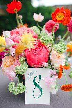 Bright Garden Floral Arrangement | photography by http://jnicholsphoto.com/