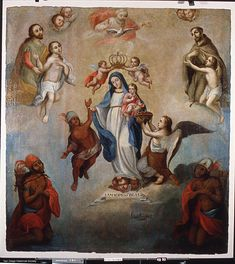 La Virgen de la Luz con los Indígenas (1732) de Luis Mena