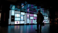 La Critique: For this multi-screen exhibit about art criticism in Place des Arts, the studio collaborated with artists and writers Interactive Installation, Video Installation, Interactive Design, Digital Signage, Digital Wall, Art Criticism, Grand Foyer, Exhibition Display, Video Wall