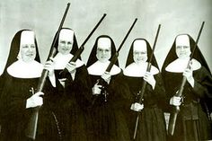 "1936 -- For the first and only time in Olympic history, the Vatican City fielded teams in several events, including the Womens' Rifles. The team, lead by Mother Superior Maria Grazia, didn't win any medals, but became minor celebrities. In 1937, they did an international exhibition tour of several Latin American countries and then the United States, where using the stage name ""Nuns With Guns"" they were a major attraction at the 1937 State Fairs in Iowa and Minnesota. With the very real…"