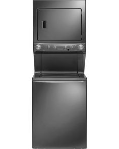 "Frigidaire - FFLE4033QT - HE 27"" Super Capacity 3.8 cu. ft. Electric Laundry Center - Metallic 