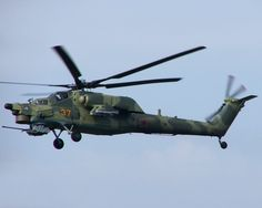 The Russian Mi-28 Havoc attack helicopter: This is the go-to attack helicopter for the Russian air force and army. Its basic armament is a 30mm Shipunov underslung auto-cannon and wingstubs that can carry up to four anti-tank missiles, rocket pods, or gun pods.