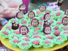3rd Birthday, Birthday Parties, Marsha And The Bear, Bear Party, Ideas Para Fiestas, Cake Pops, Party Favors, Alice, Diy And Crafts